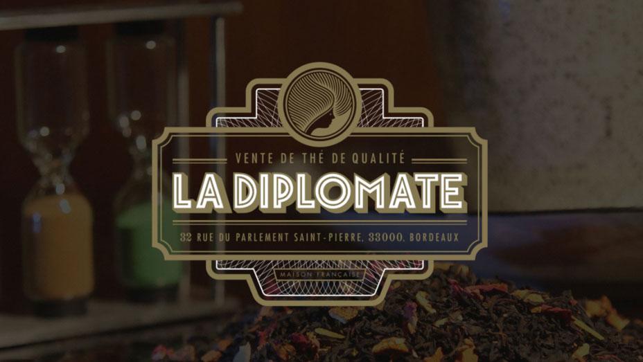 Logo de La Diplomate